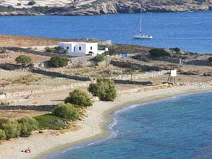 Wonderful beaches in Schinoussa island, Cyclades, Greece